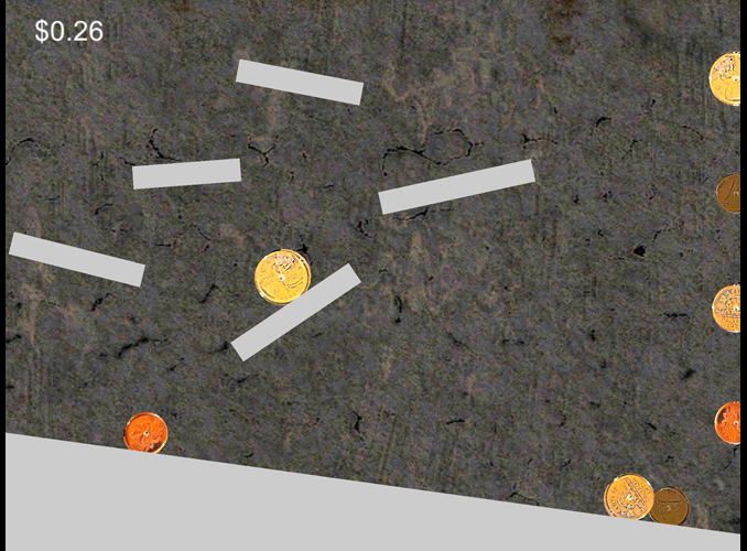 Image of a Unity physics toy called Coinsort